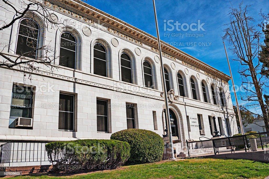 Eldorado County Courthouse stock photo