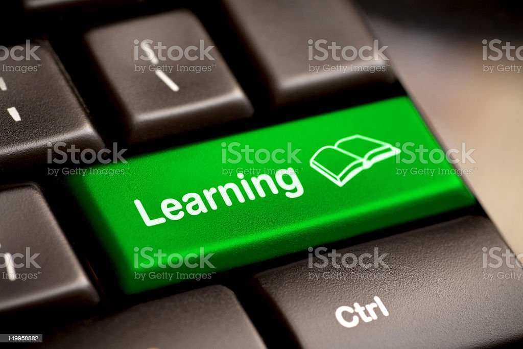e-Learning Concept. Computer Keyboard royalty-free stock photo