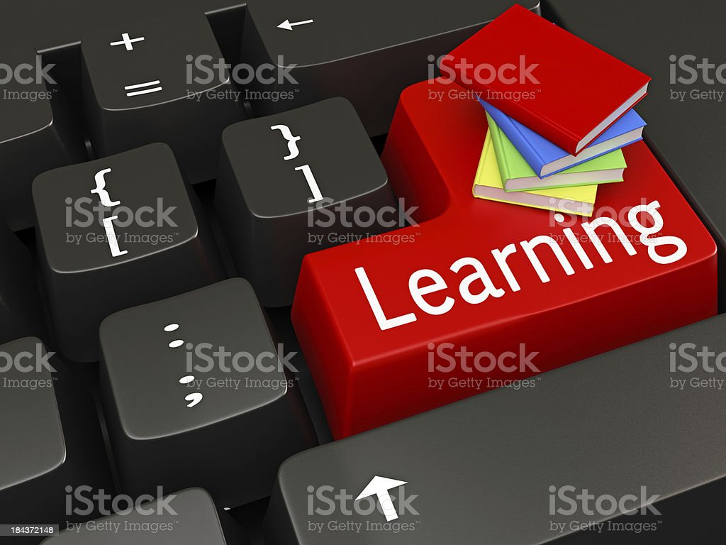 e-Learning Concept royalty-free stock photo