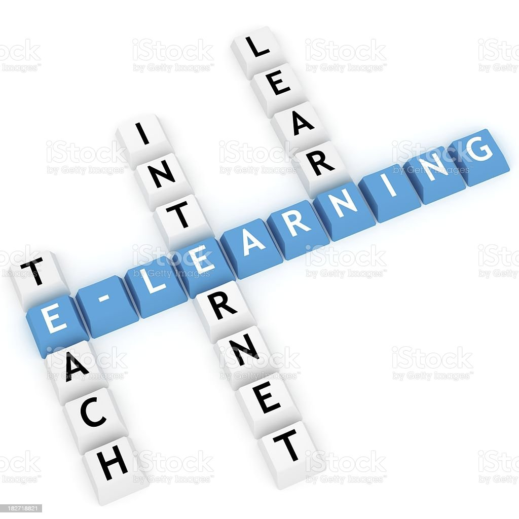 E-Learning Crossword royalty-free stock photo