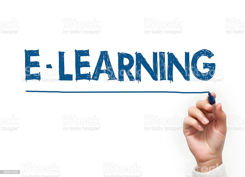 E-Learning felt tip pen concept (Click for more) stock photo