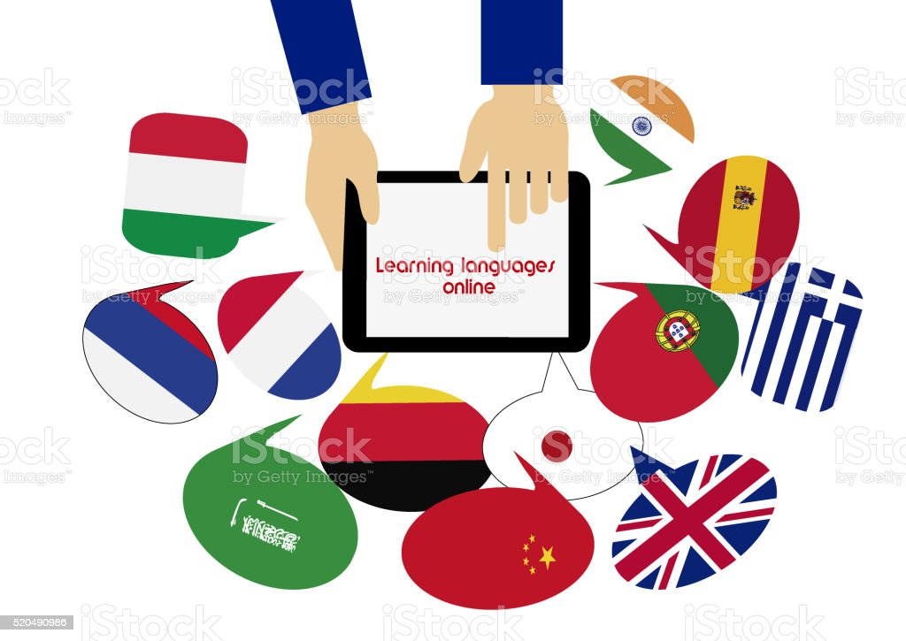 E-learning. Mobile dictionary. Learning languages online:arabic. stock photo