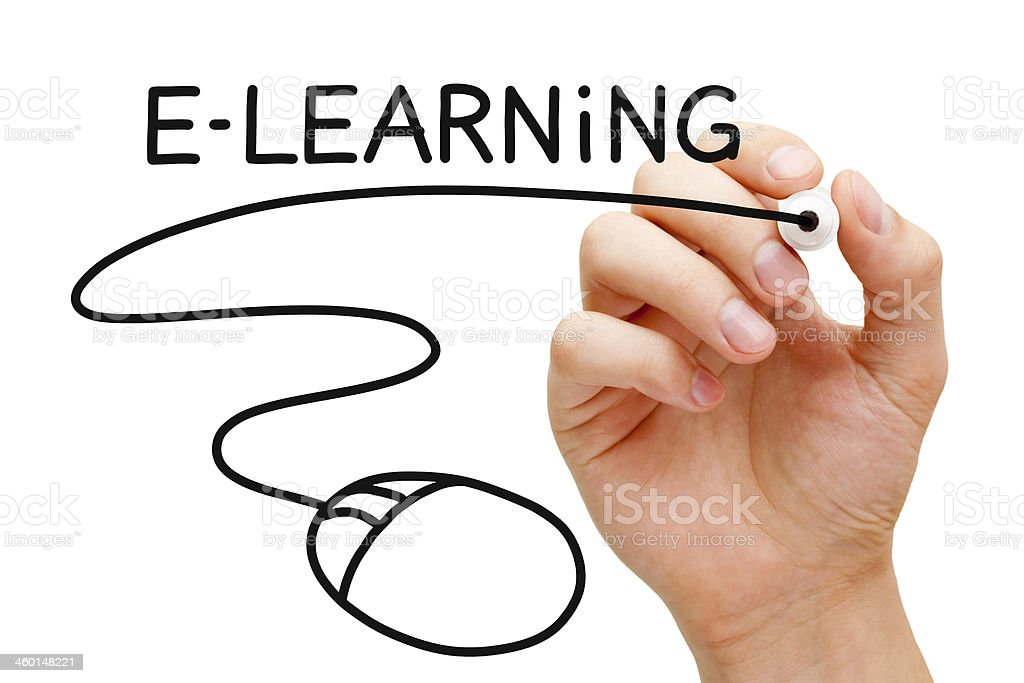 E-learning Mouse Concept royalty-free stock photo