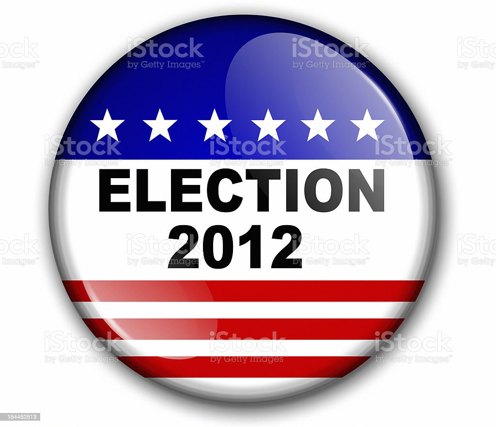 Election 2012 3-D Badge royalty-free stock photo