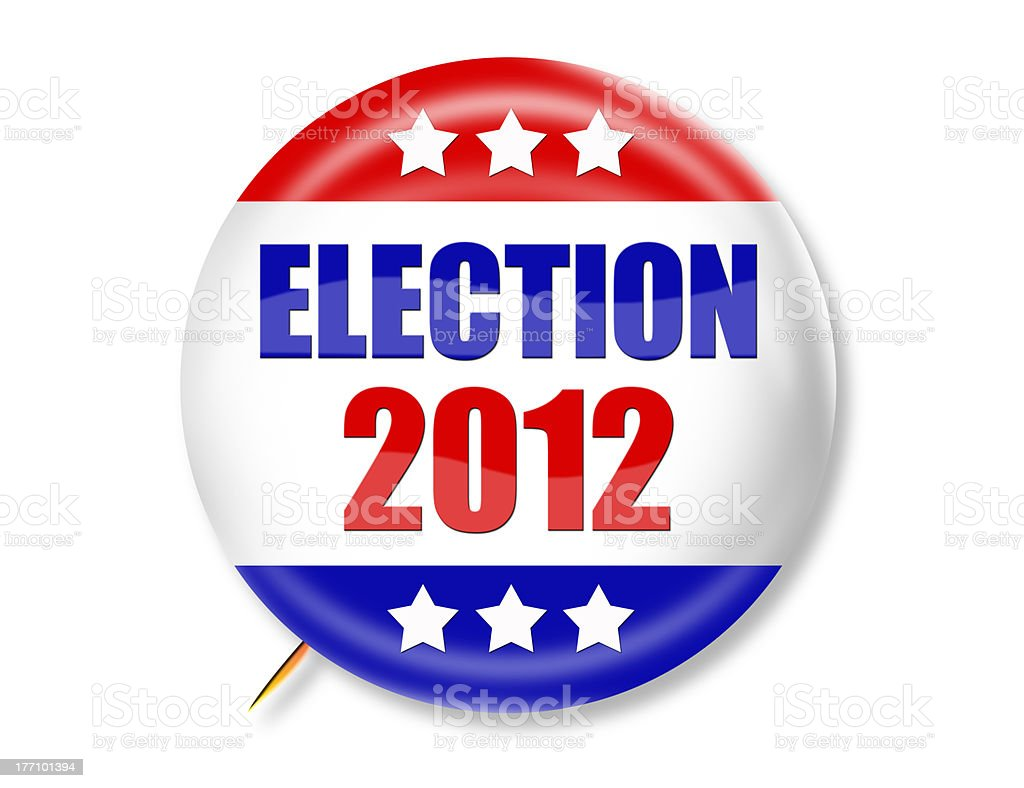 Election 2012 3-D Button royalty-free stock photo