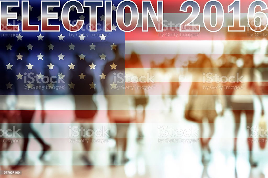 USA election 2016 background stock photo