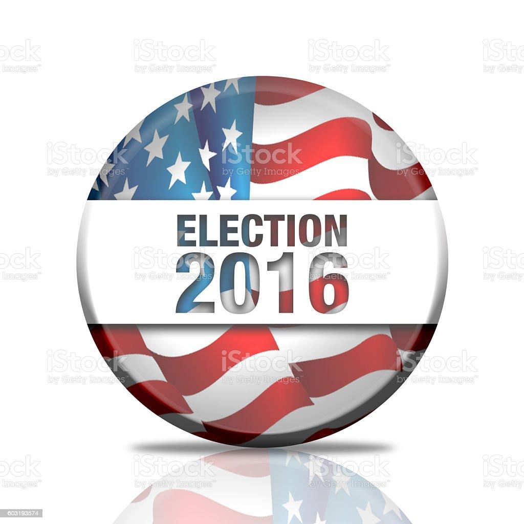 election 2016  badge stock photo