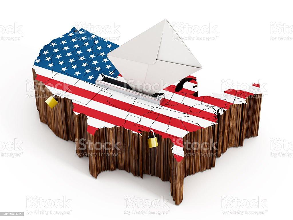 USA election 2016 ballot box stock photo