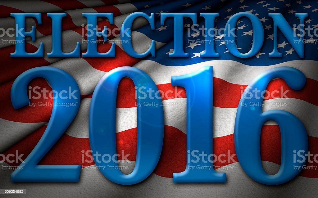 Election 2016 Flag stock photo