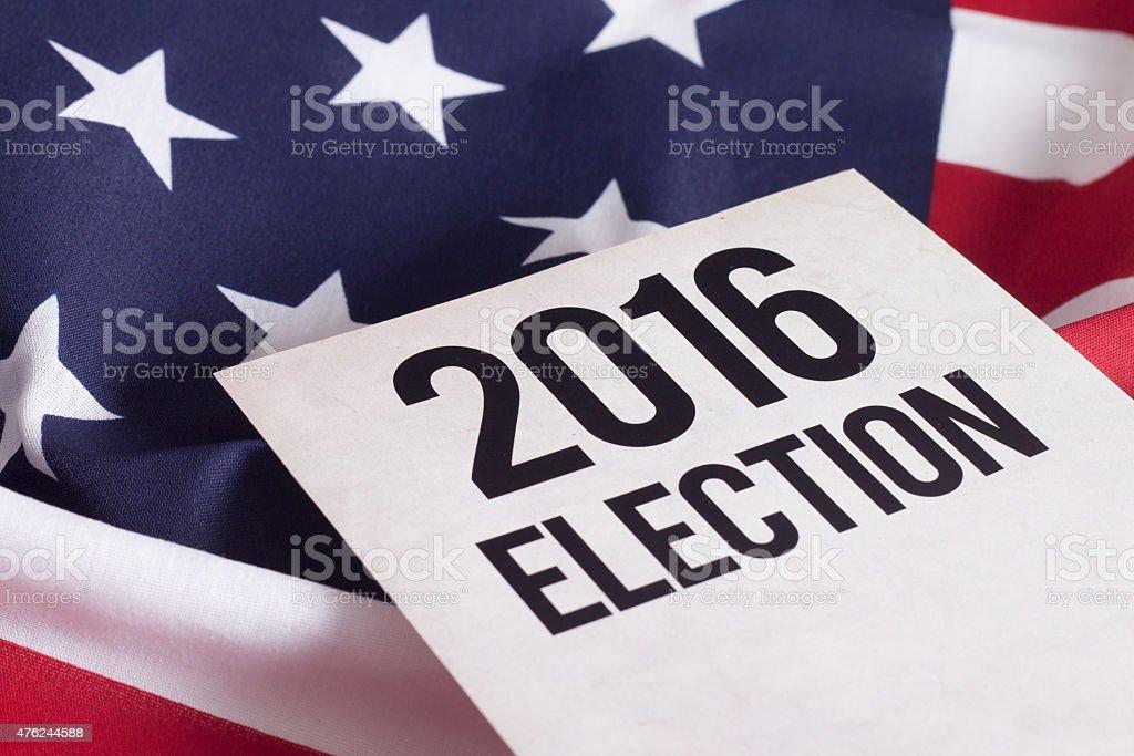 Election 2016 stock photo