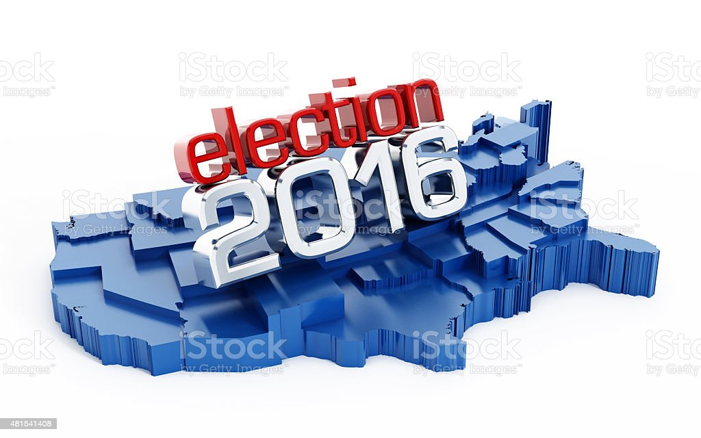 USA election 2016 vector art illustration