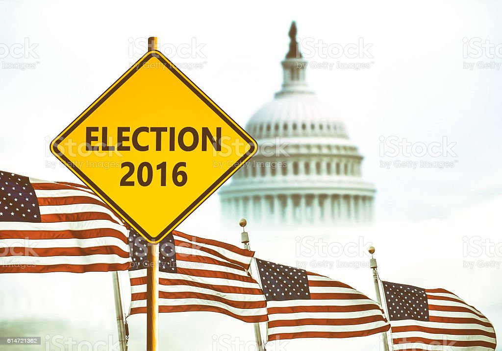 Election 2016 stock photo