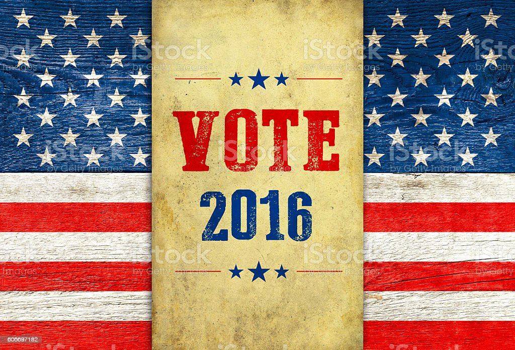USA election 2016 retro background stock photo