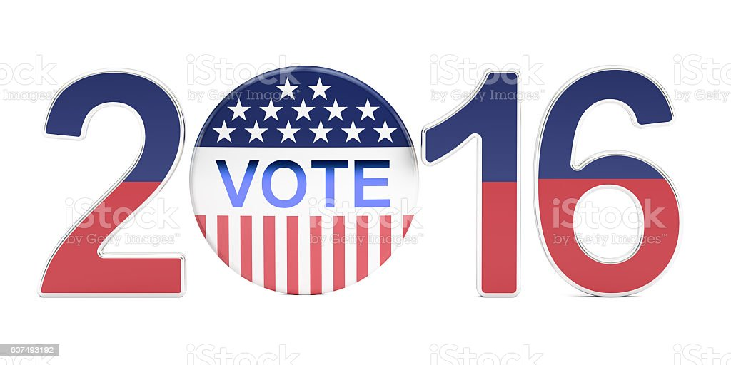 Election 2016 USA concept, 3D rendering stock photo