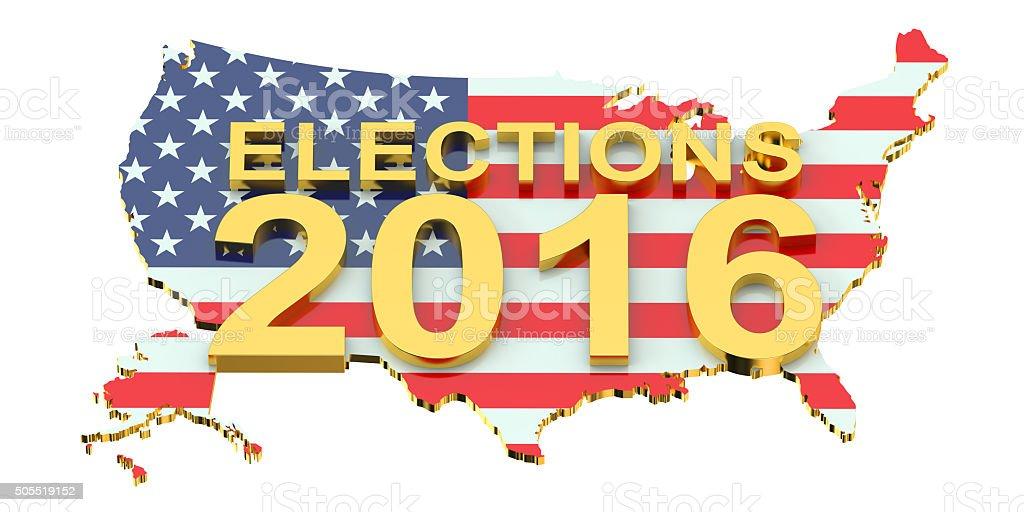 Election 2016 USA concept stock photo