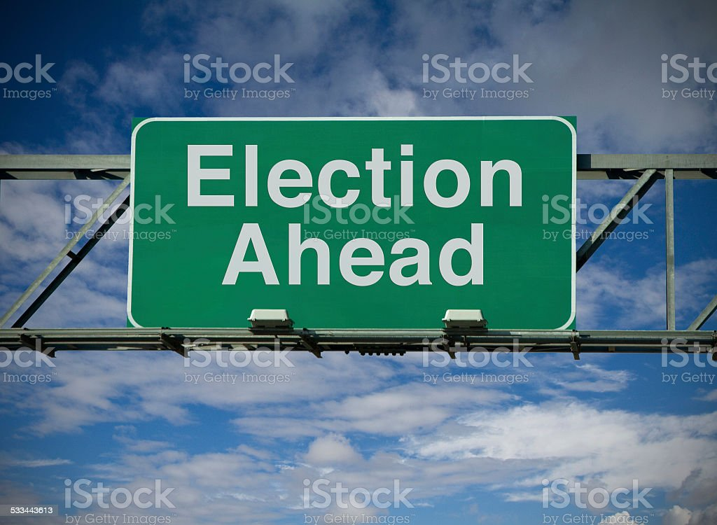 Election Ahead stock photo