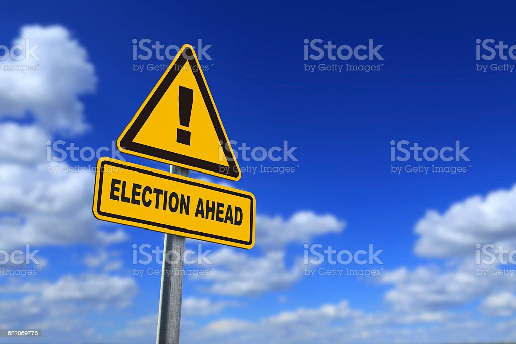 election ahead stock photo