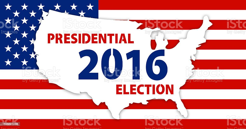 USA election background stock photo