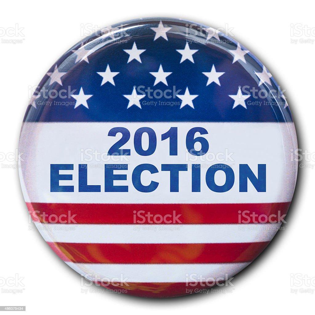 2016 election badge stock photo