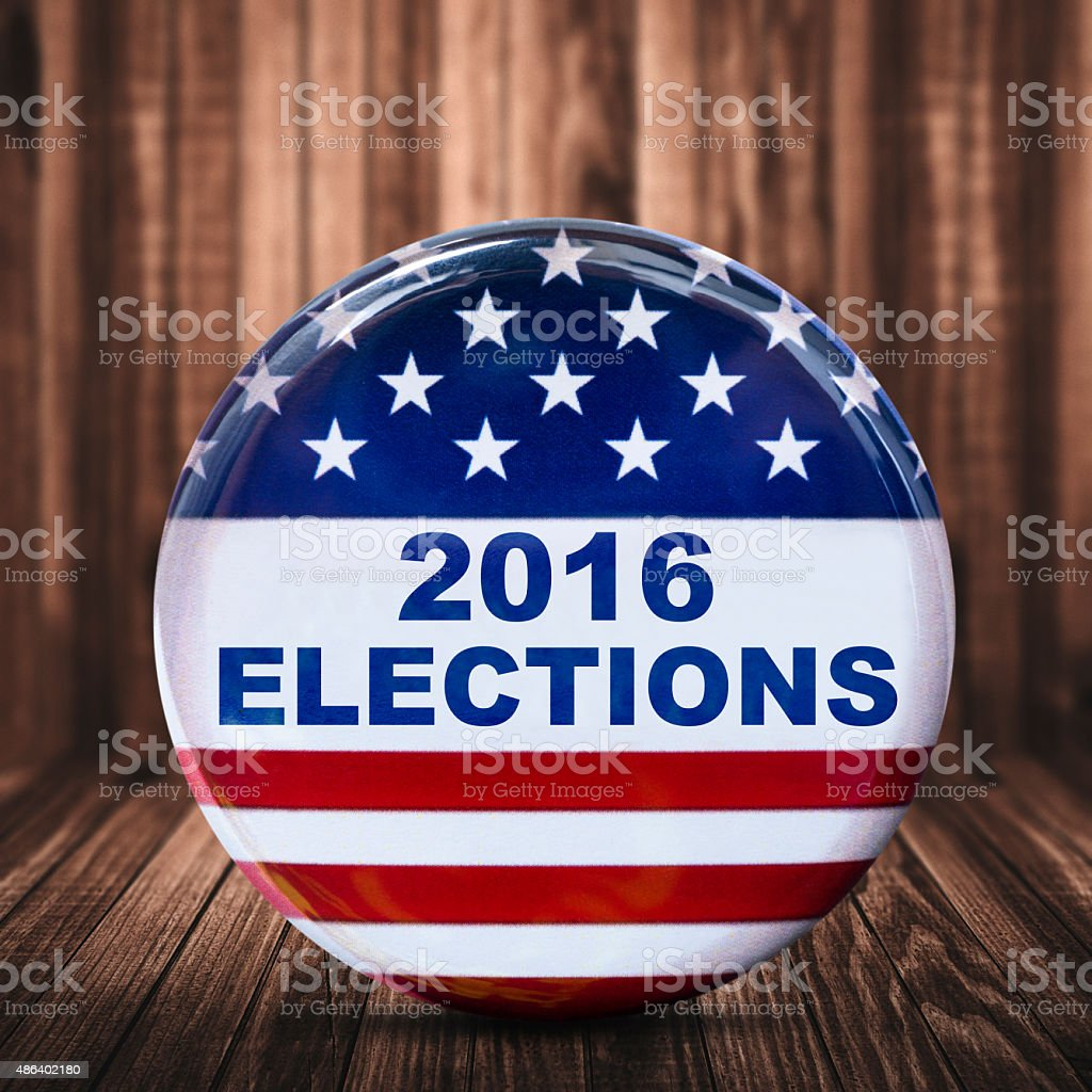 2016 election badge stock photo