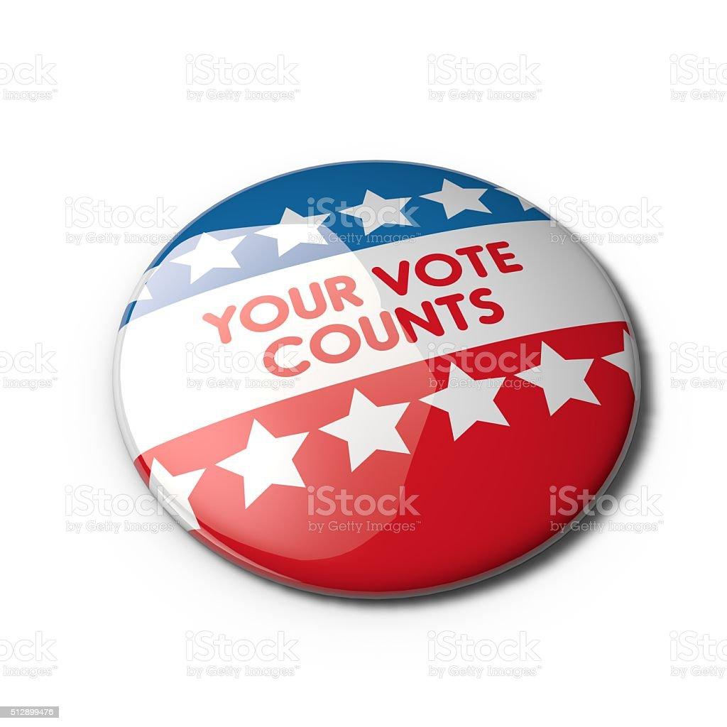 USA election badge stock photo