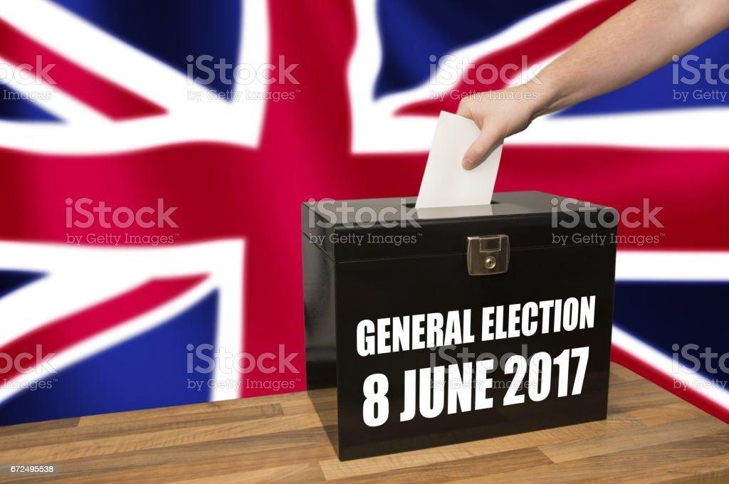 UK Election Ballot Box 8 June 2017 stock photo