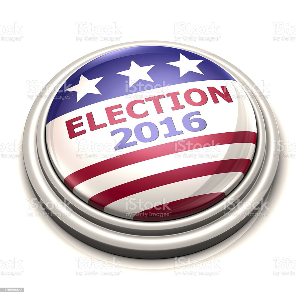 Election Button stock photo