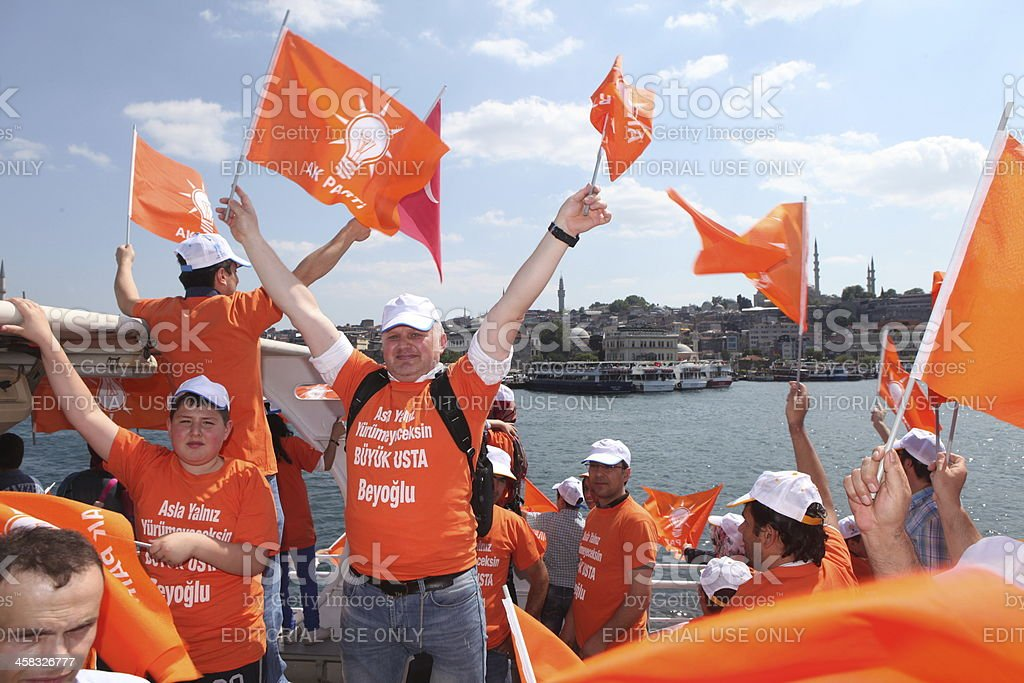 Election Campaign in Turkey. stock photo