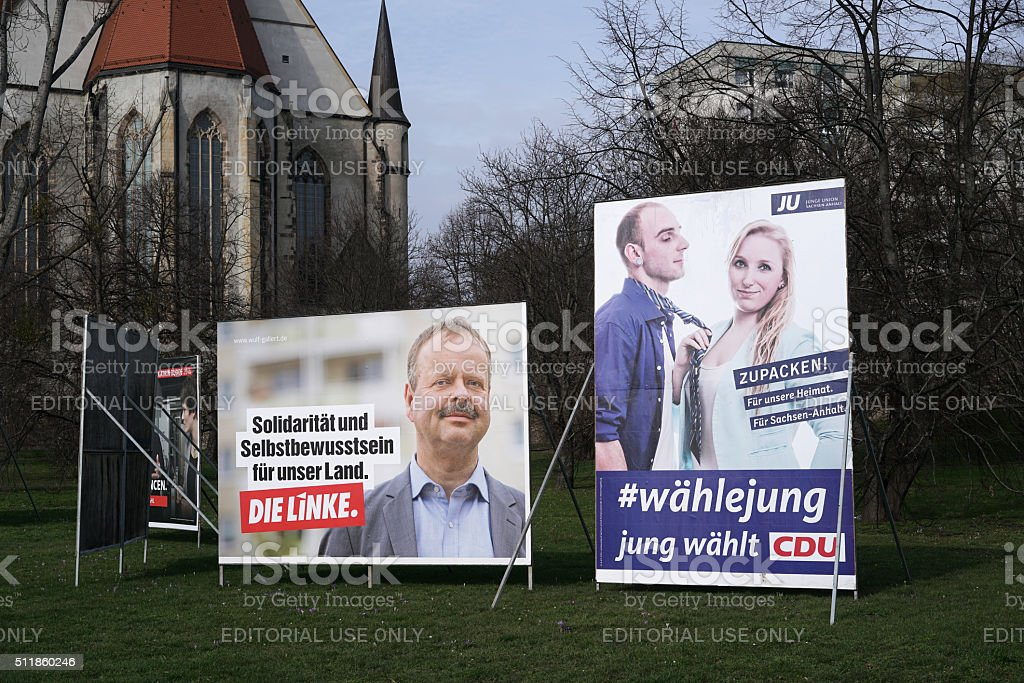 Election Campaign posters stock photo