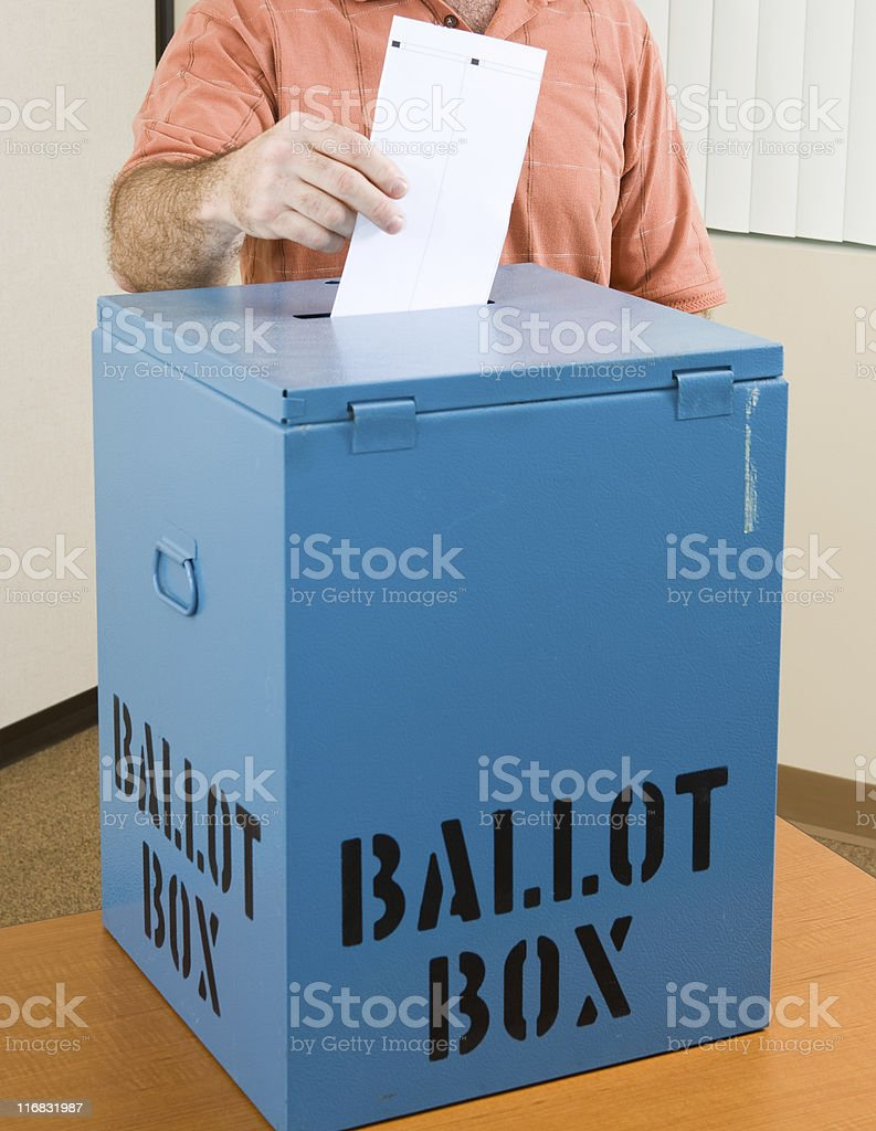Election - Casting Ballot royalty-free stock photo