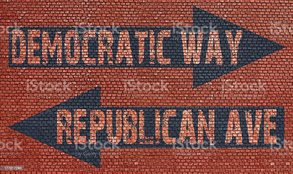 Election choice conceptual stock photo