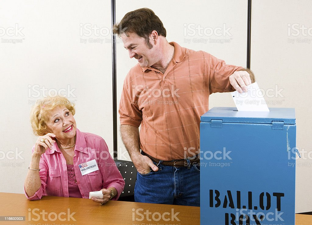 Election Day in USA stock photo