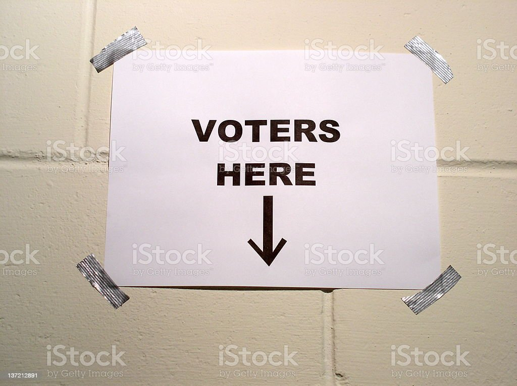 Election Day royalty-free stock photo