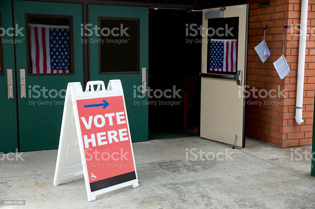 Election Day: Polling place stock photo