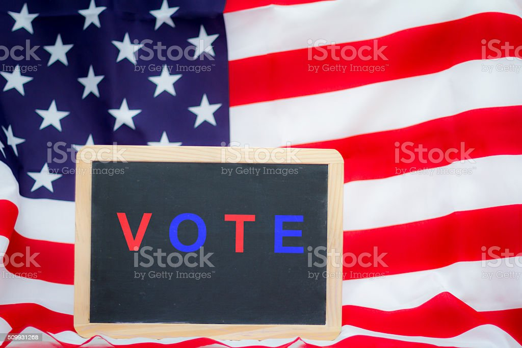 Election days in USA stock photo