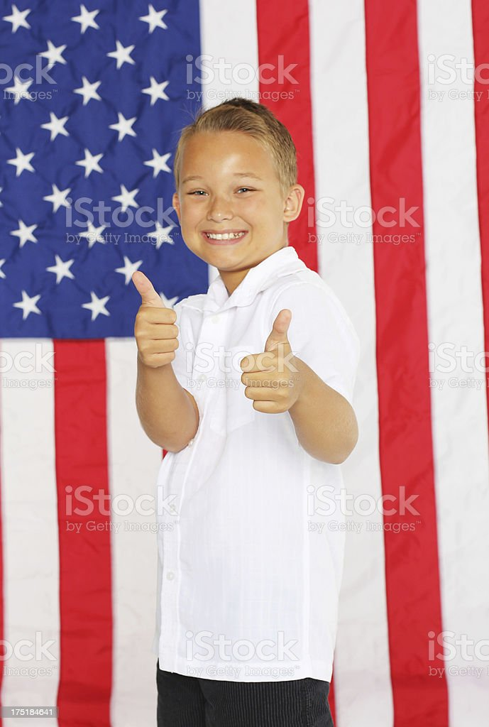 Election kid royalty-free stock photo