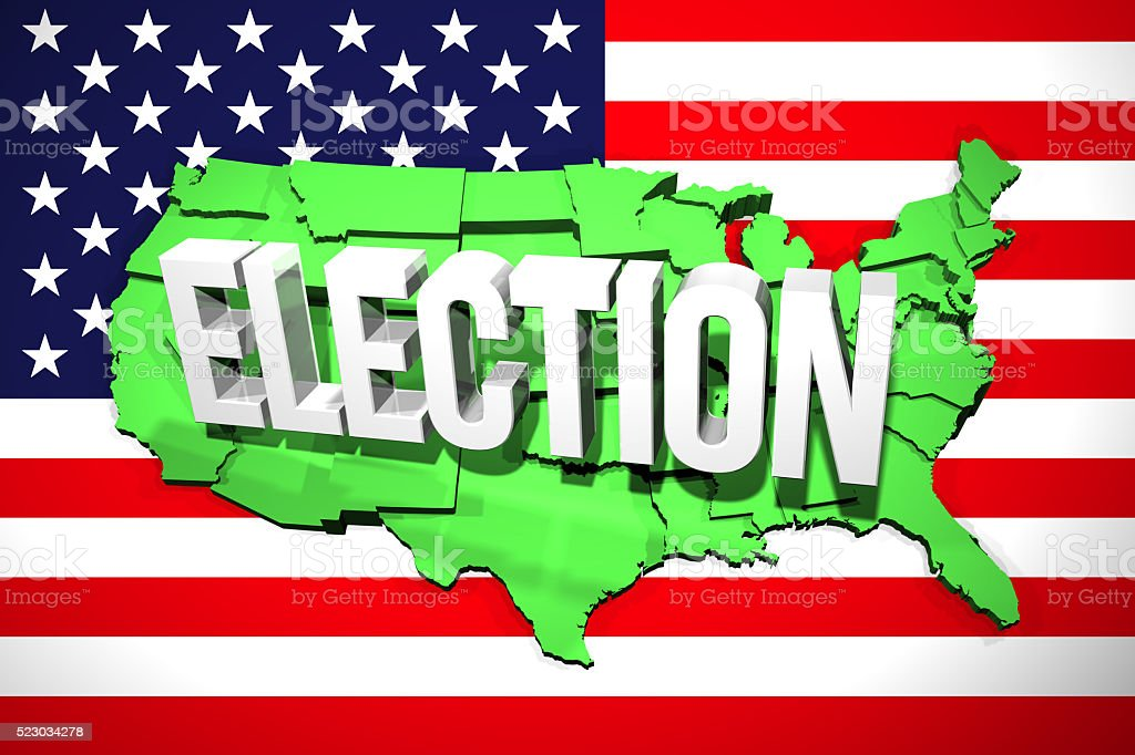 USA Election Map stock photo