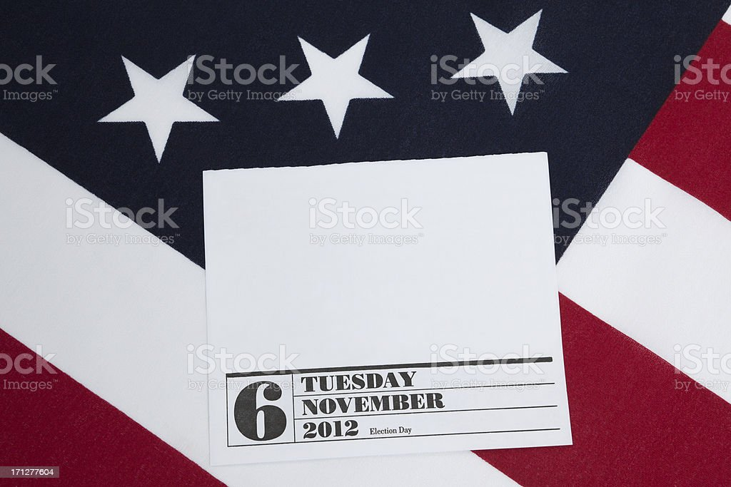 2012 Election Patriotic Calendar Page with Copy Space royalty-free stock photo