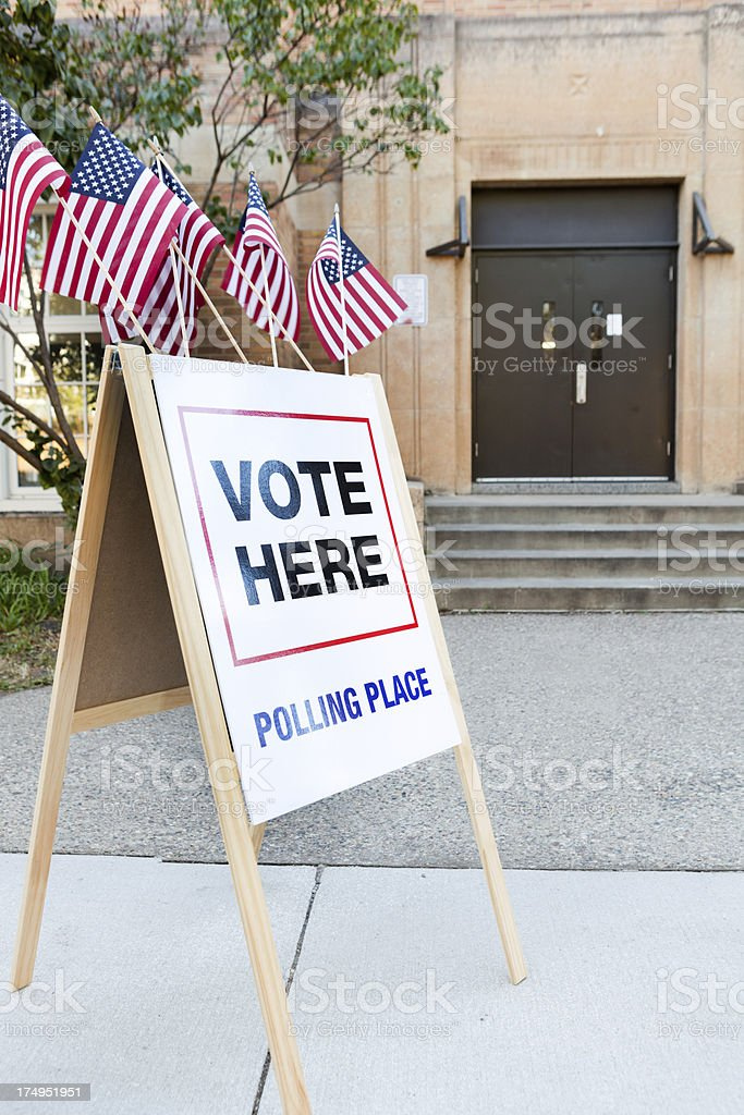 Election Polling Place in United States of America royalty-free stock photo