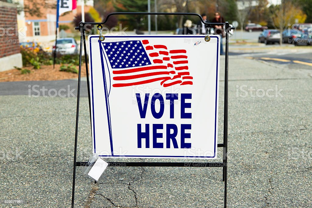 Election Polling Place Station stock photo