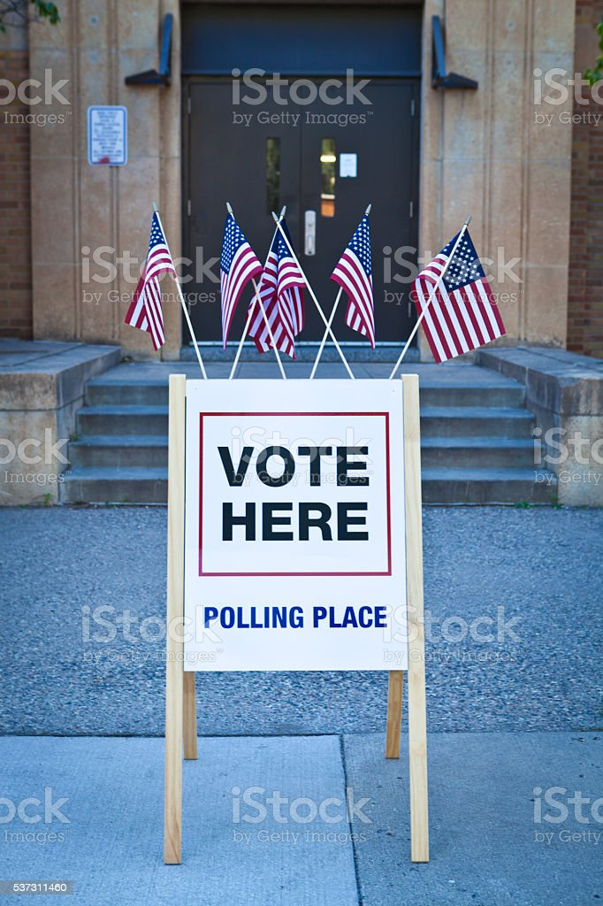 USA Election Polling Place Station stock photo