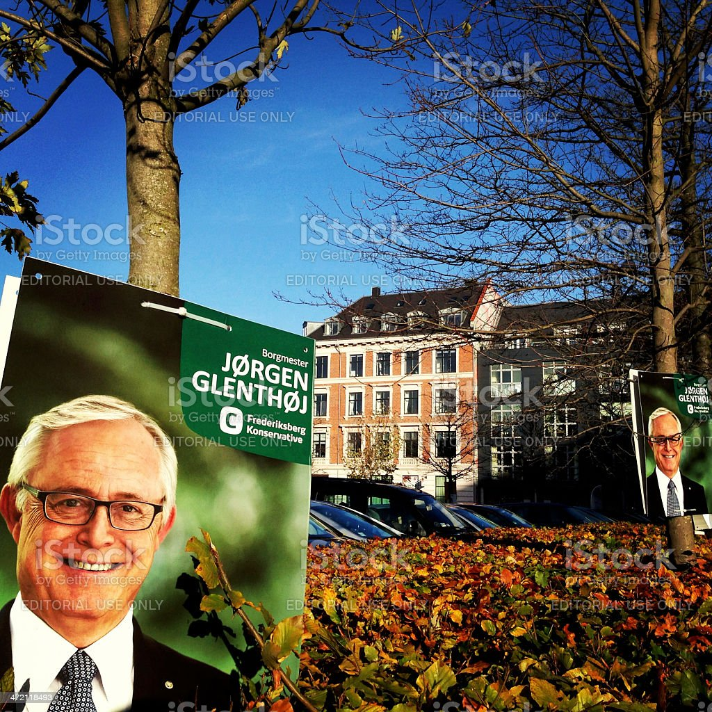 Election Posters in Denmark stock photo