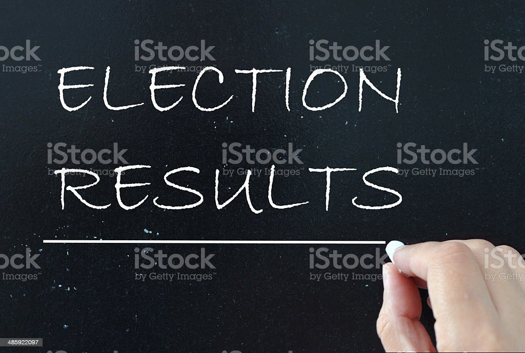 Election results stock photo
