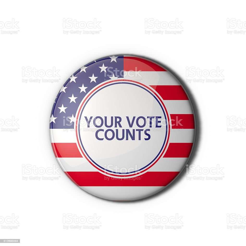 USA election vote badge stock photo