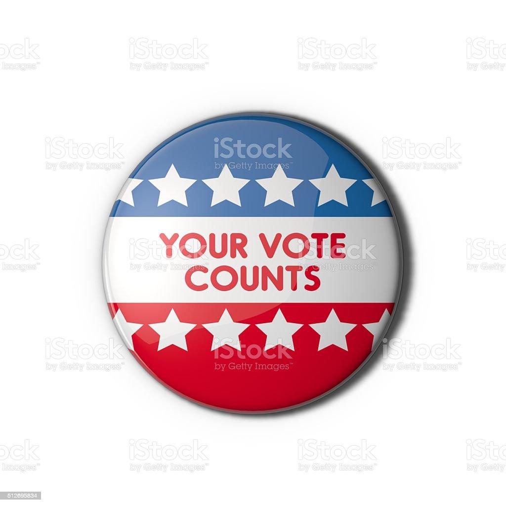 USA election vote badge stock photo
