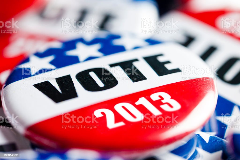 Election Vote Buttons royalty-free stock photo