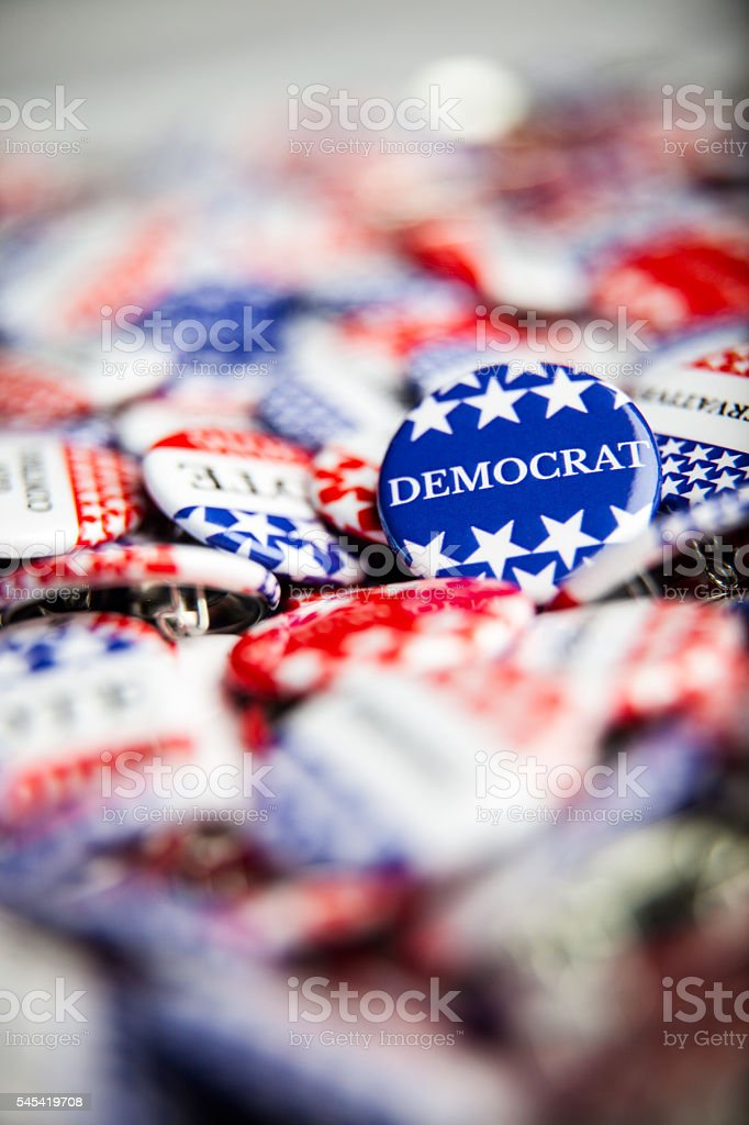 Election Vote Buttons stock photo