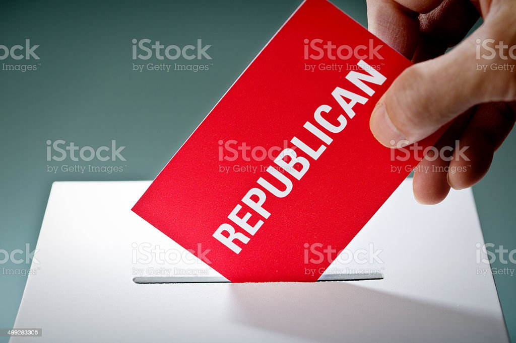 U.S. Election Voter Voting Republican Party Ballot stock photo