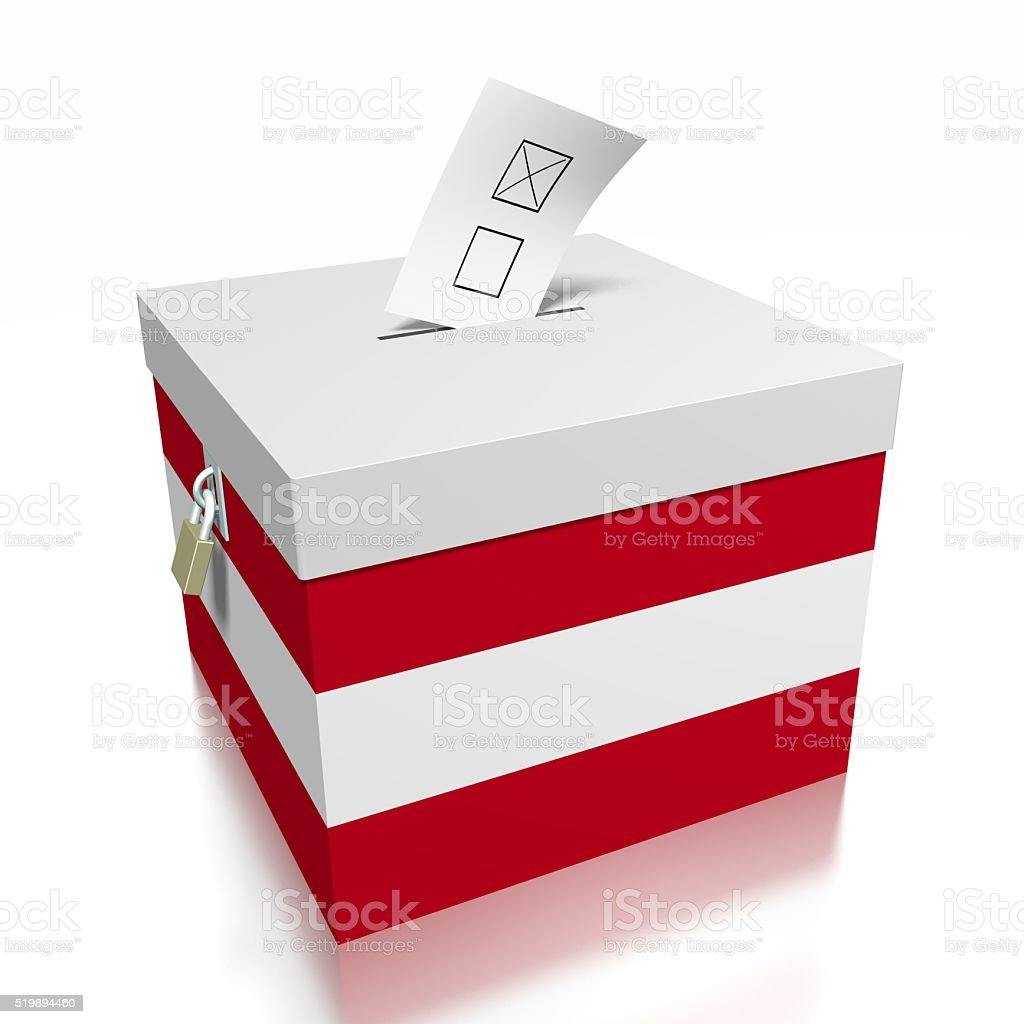 Election/ voting in Austria stock photo