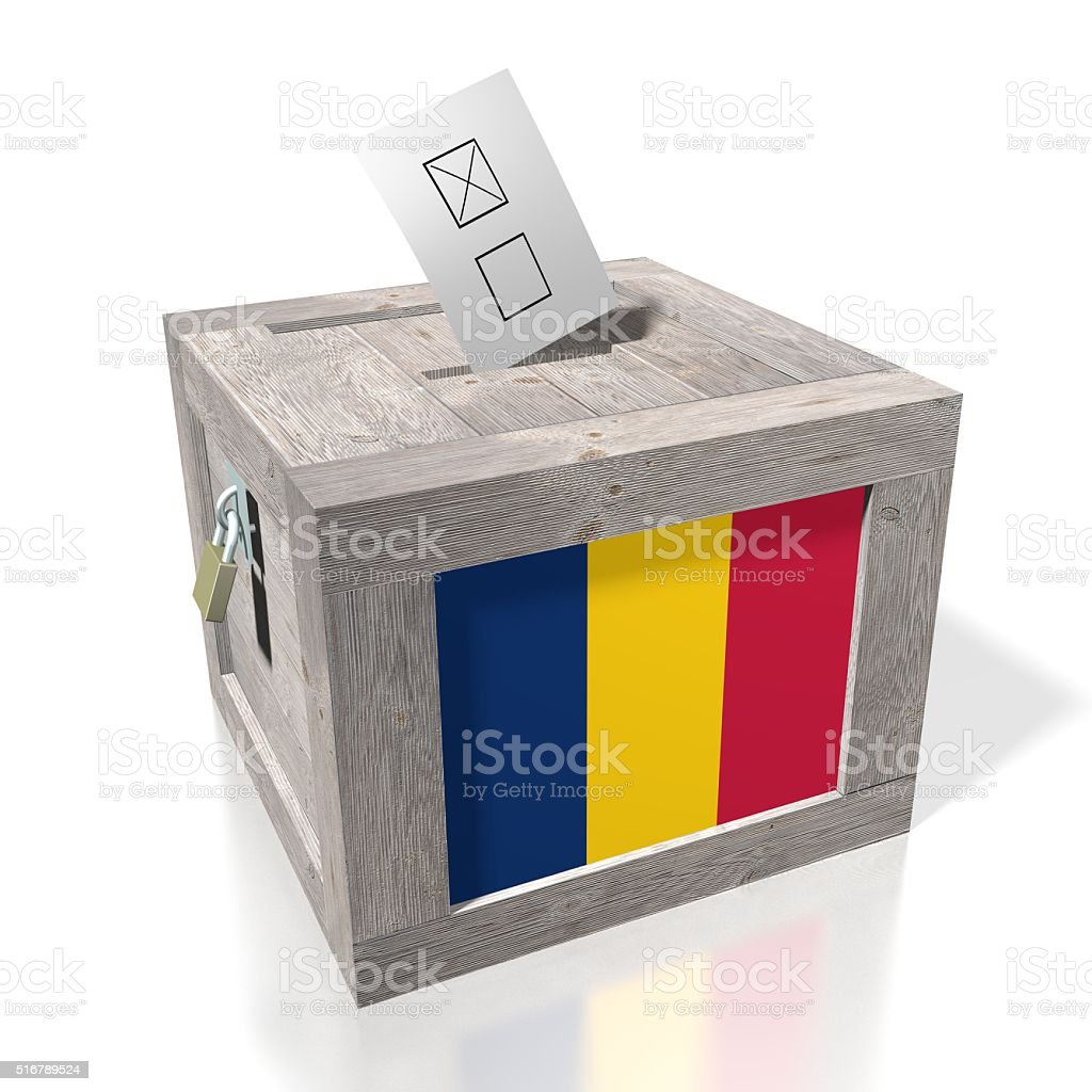 Election/ voting in Chad stock photo